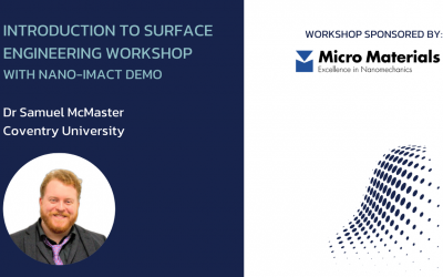 Introduction to Surface Engineering (with nano-impact demo)